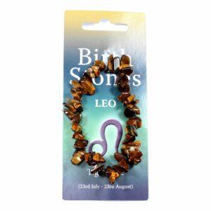 LEO Birthstone Chip Bracelet (Tiger Eye)