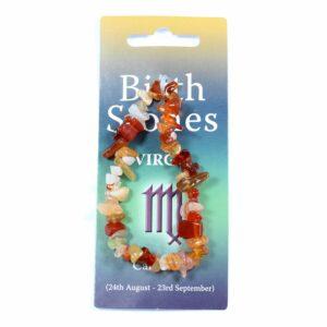 VIRGO Birthstone Chip Bracelet (Carnelian)