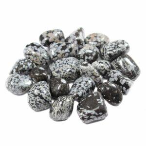 Obsidian Snowflake Mexico 20-30mm Medium Tumblestone