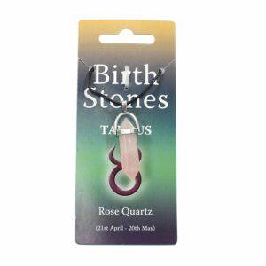 TAURUS Birthstone Pendant on Thong (Rose Quartz)