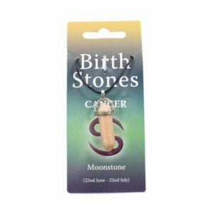 CANCER Birthstone Pendant on Thong (Moonstone)