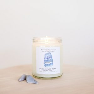 Crystal Candle_Blue Chalcedony_Calming Stone