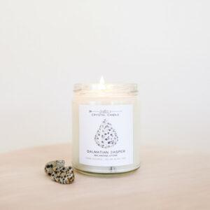 Crytal Candle_Dalmatian Jasper_Balancing Stone