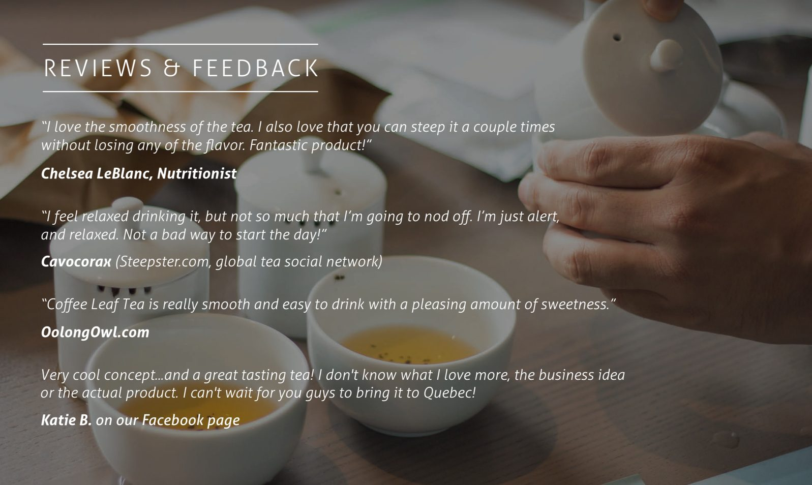 Coffee Leaf Review and Feedback