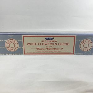 Satya White Flowers and Herbs Incense 15 Gram