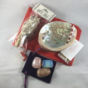 White Sage Smudge Kit with Gemstones